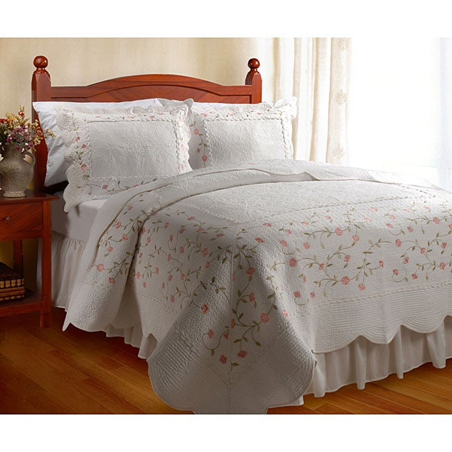 Greenland Home Fashions Guinevere Cotton 3-Piece Quilt Set