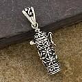Sterling Silver 'Prayer Box' Long Pendant (Thailand)