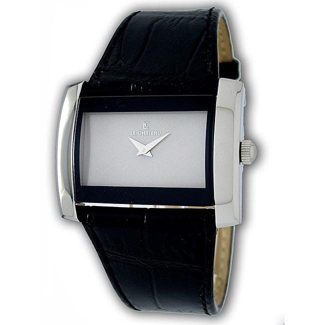 Le Chateau Men's Stylish Steel Black Watch