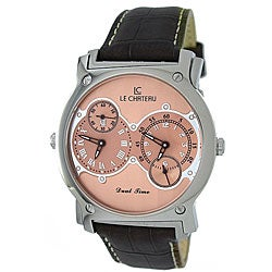 Le Chateau Viajero Men's Leather Strap Watch