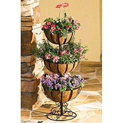 Simple Living Metal 3-tier Jardiniere
