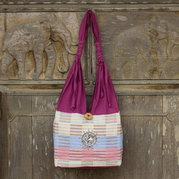 Cotton 'Siamese Blush' Handbag (Thailand)
