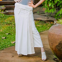 Cotton 'Thai Sophistication' Wraparound Skirt (Thailand)
