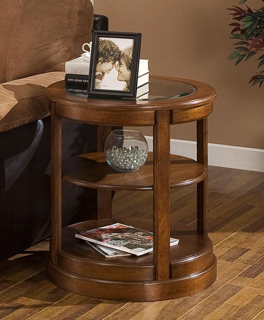 Glass top round end table coffee furniture modern sofa tables century mid accent ebay for Glass end tables for living room
