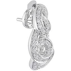 Miadora 18k Gold 1ct TDW Diamond Spiral Clip Earrings (F-G, SI1)