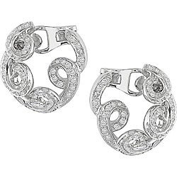 Miadora 18k Gold 1ct TDW Diamond Spiral Clip Earrings (F-G, SI1)