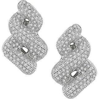 Miadora Signature Collection 18k White Gold 3 3/5ct TDW Diamond Earrings (FG, SI)