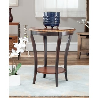 Harrison Beidermeir Dark Brown Round Side Table