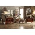 TRIBECCA HOME Hills Mission Oak Olive Microfiber 4-piece Living Room Set