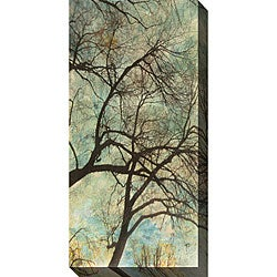 Sara Abbott 'Abstract Trees VI' Gallery-wrapped Art