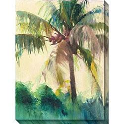Allyson Krowitz 'Coconut Palm' Oversized Canvas Art
