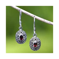 Garnet 'Wild Beauty' Earrings (Indonesia)