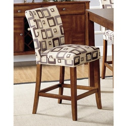 Parson Brick Upholstered Pub Stools (Set of 2)