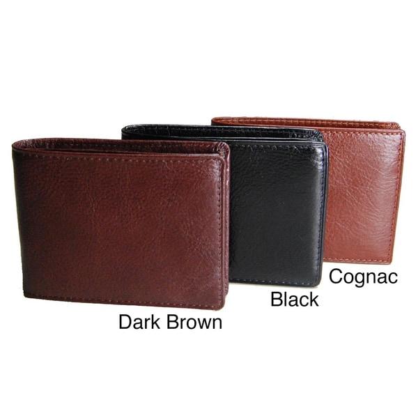 Torino Men's Leather Slim Fold Wallet