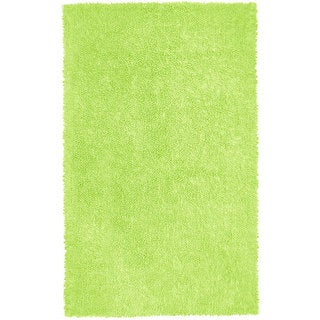 Green Chenille Shag Rug (4' x 6')