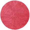 Chenille Pink Shag Rug (5' Round)