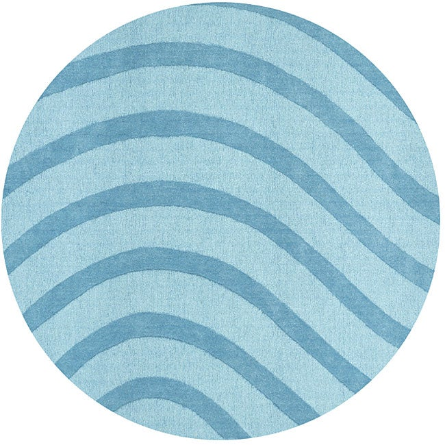 Blue Waves Rug (6' Round)
