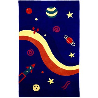 Hand-tufted Kids' Space Rug (4' x 6')