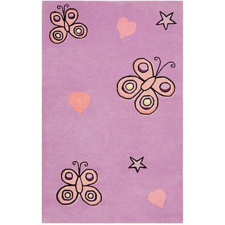 Hand-tufted Kids' Butterfly Rug (5' x 8')