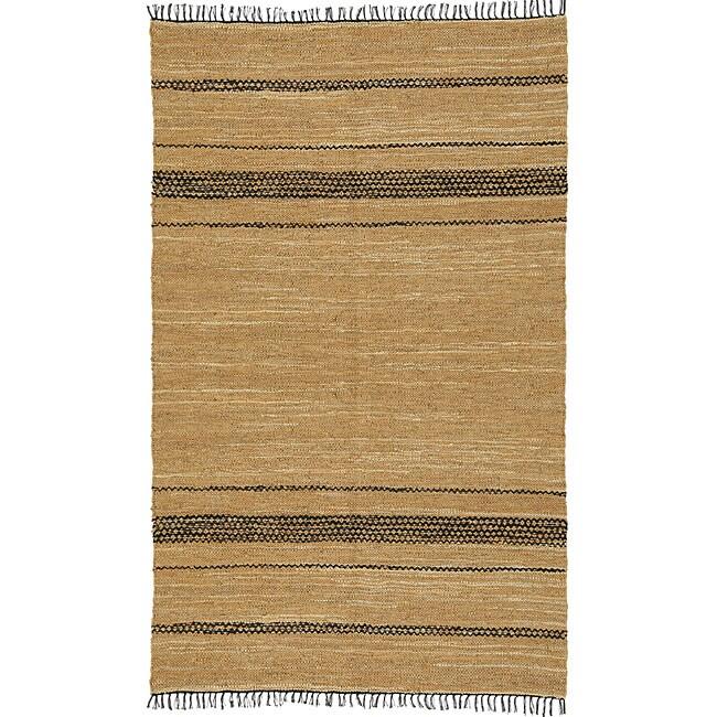 St Croix Trading Chindi Tan/ Black Leather Rug (4' x 6') at Sears.com