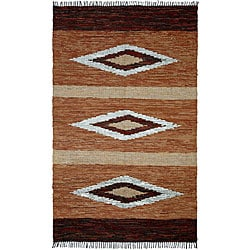 Chindi Diamonds Leather Rug (5' x 8')