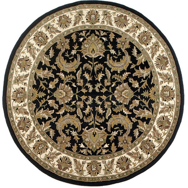 Isphan Black Rug (6' Round)