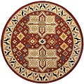 Elite Red/ Beige Rug (6' Round)