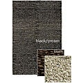 Hand-woven Mandara Black/ Brown/ Cream Poly/ Jute Rug (3'6 x 5'6)