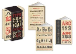 Typographica Pocket Pads: A Set of Journals to Record Your Notes (Notebook / blank book)