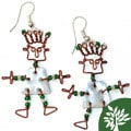 Recycled Tin 'African Spirit' Earrings (Kenya)