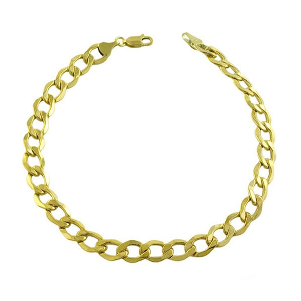 Fremada 14k Yellow Gold 9-inch Curb Bracelet