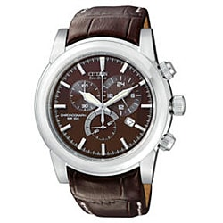 Citizen Men's Eco-drive Brown/Silver Chronograph Watch