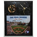 Shea Stadium Final Season Picture Clock Plaque