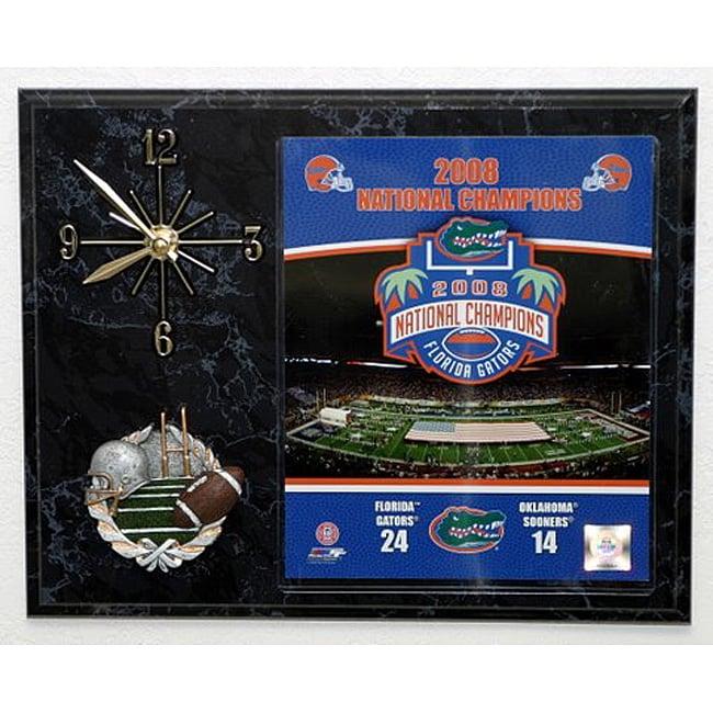 2009 UF Gators National Champions Picture Clock