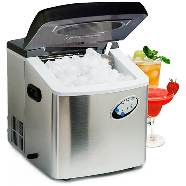 ... Stainless Steel Digital Countertop Ice Maker with 3-sizes of Ice Cubes