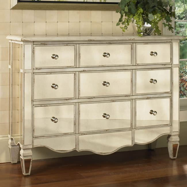 Hand-painted Mirrored Drawer Accent Chest - 11968404 - Overstock.com Shopping - Great Deals on ...