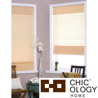 Chicology Serenity Apricot Roman Shade (23 in. x 72 in.)