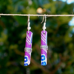 Tin Can Tube Earrings (Zimbabwe)