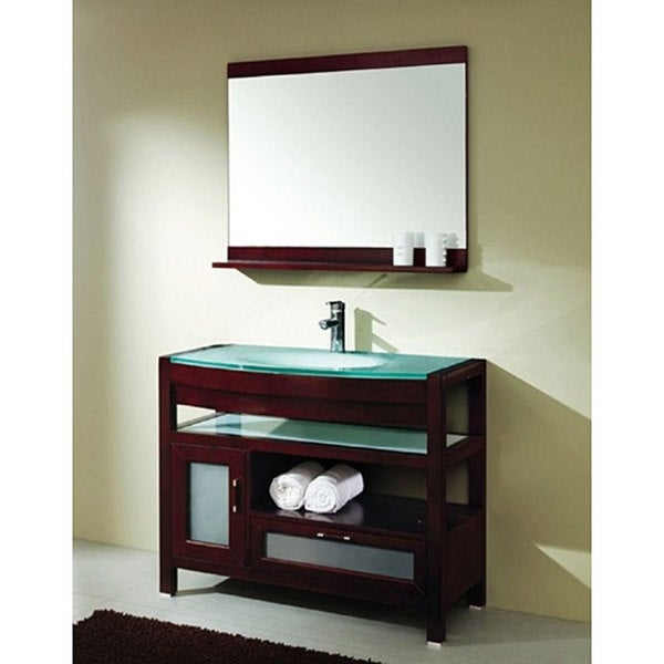 Design Element Solid Wood Bathroom Vanity Set