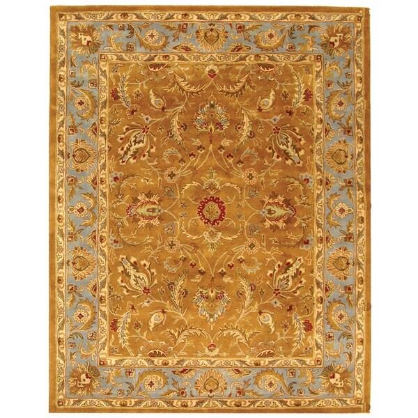 Safavieh Handmade Heritage Shahi Brown/ Blue Wool Rug (9'6 x 13'6)