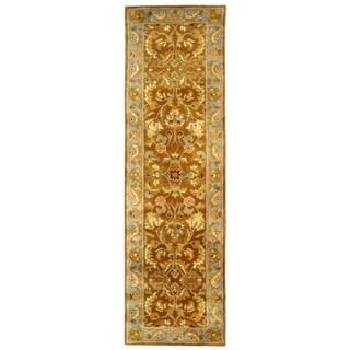 Handmade Heritage Shahi Brown/ Blue Wool Runner (2'3 x 4')