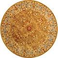 Safavieh Handmade Heritage Shahi Brown/ Blue Wool Rug (8' Round)