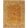 Handmade Heritage Shahi Brown/ Blue Wool Rug (8'3 x 11')