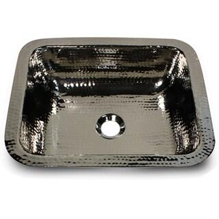Hammered Nickel Rectangle Bar/ Vanity Sink