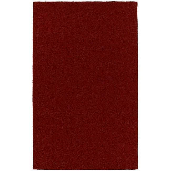 Hard-twist Red Rug (8' x 10'6)