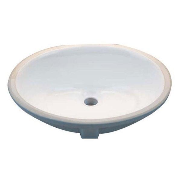oval white 17x14 inch undermount vanity sink 11972429 overstock