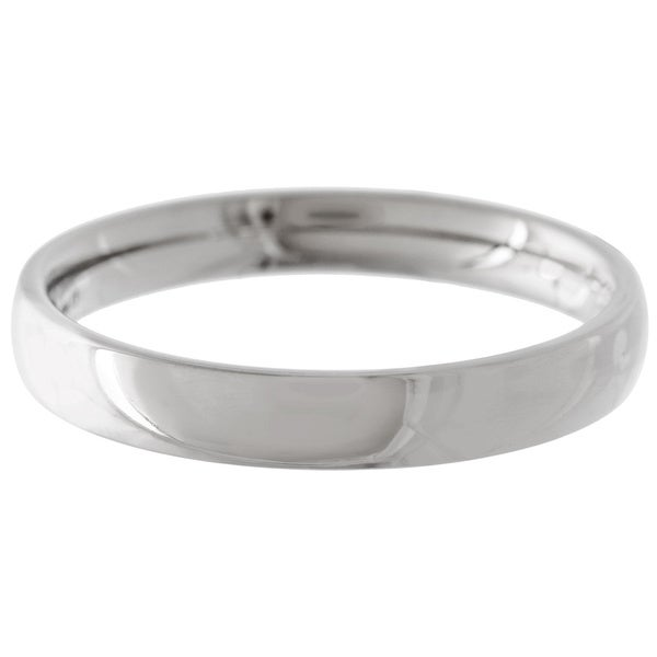 Men's Titanium Polished Domed Comfort-fit Band (4 mm)