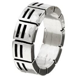 Kabella Gerald David Bauman Silver Commitment Ring