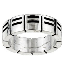 Kabella Gerald David Bauman Silver Commitment Ring