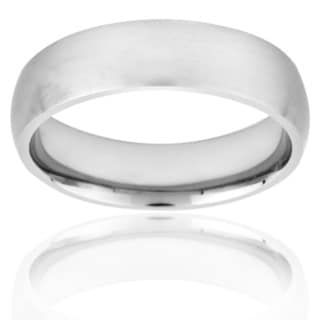 West Coast Jewelry Men's Titanium Domed and Brushed Comfort-fit Band (6 mm)